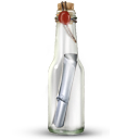 message, bottle icon