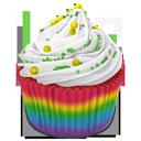 cupcake, rainbow icon
