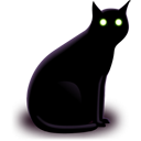 animal, black, cat, halloween icon