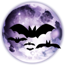 bats, full, halloween, horror, moon icon