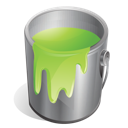 green, paint icon