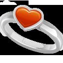 טבעת עם לב