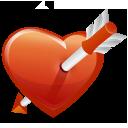 לב עם חץ